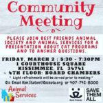 Community Cats meeting flyer