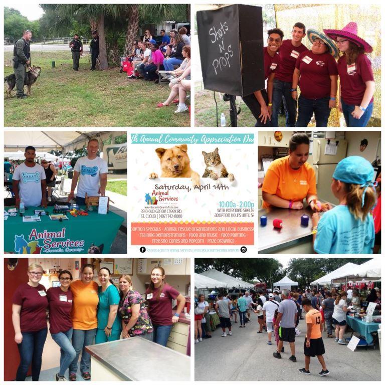 Photo collage of 2018 Community Appreciation Day.