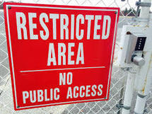 Photo of Restricted Area sign