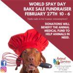 World Spay Day Bake Sale 2019 flyer