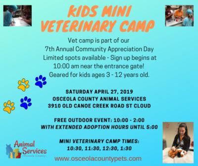 Kids mini vet camp 2019-1