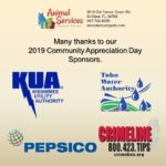 Thank you to our CAD sponsors: Crimeline, KUA, Pepsico and Toho water.