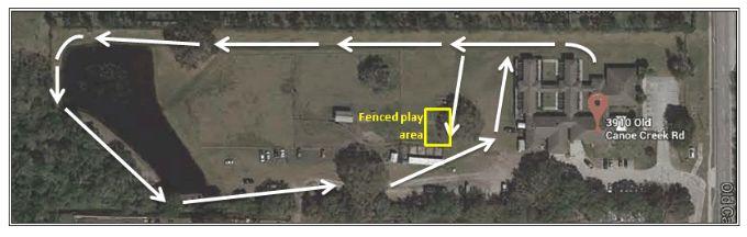 Dog walk area map