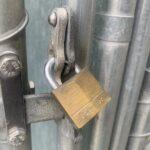 Outside gate lock