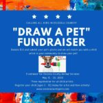 Draw a pet fundraiser cover and poster