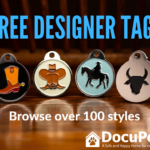 Home Page free designer tag poster from DocuPet