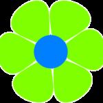 Green cartoon flower