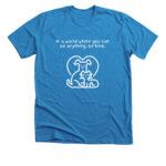 Blue tee shirt front